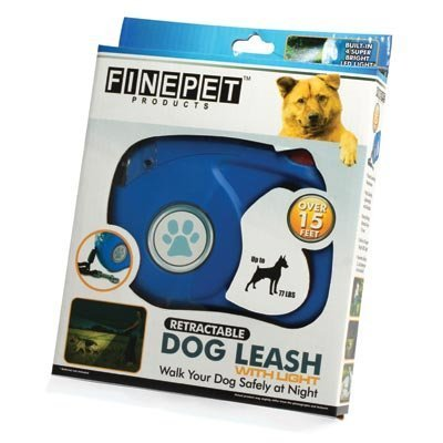 Finepet Retractable Dog Leash with Light by Fine Life (English Manual)