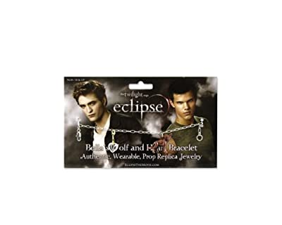 Twilight Eclipse Bellas Wolf And Heart Bracelet by NECA