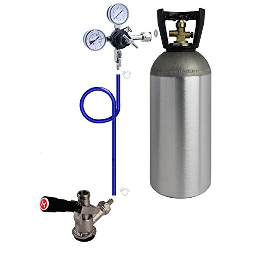 Kegco DDK10 Direct Draw Kit for Commercial Kegerators and Jockey Boxes with 10 lb. CO2 Tank