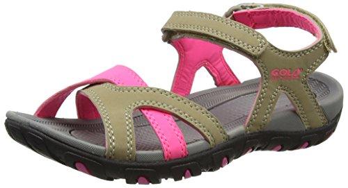 Wanderschuhe amp; Gola Pink Pink Taupe Trekking Sandalen Damen Beige Cedar Taupe Hot Hot 6fr1ZfXC
