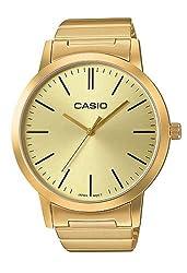 Casio #LTP-E118G-9A Women's Standard Oversized Gold Tone 3-Hand Analog Watch