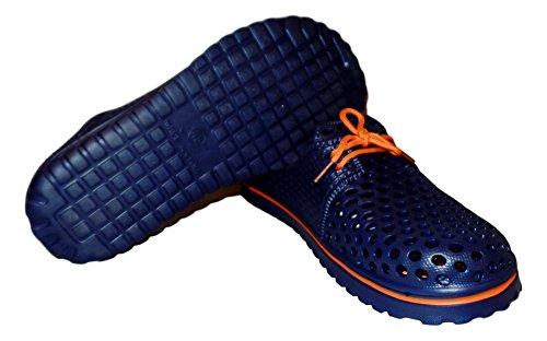 Sandalo Da Spiaggia 101 In Pizzo Da Uomo, Blu Navy / Arancione