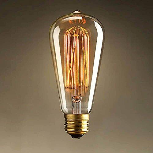 RavTech(TM)1910 Antique Vintage Edison Light Bulb 60W 220V E27 Industrial Radiolight ST64 Squirrel Cage Tungsten Coffee/Bar/Kitchen Lamp