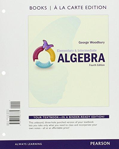 Elementary & Intermediate Algebra, Books a la Carte Edition, plus MyLab Math -- Access Card Package (4th Edition)