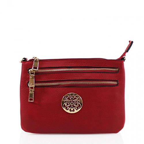 Strap Long Ladies bag Multi Shoulder Craze New Cross Womens Medium Messenger Red Pocket Bags London Body wpPxpvqzIO