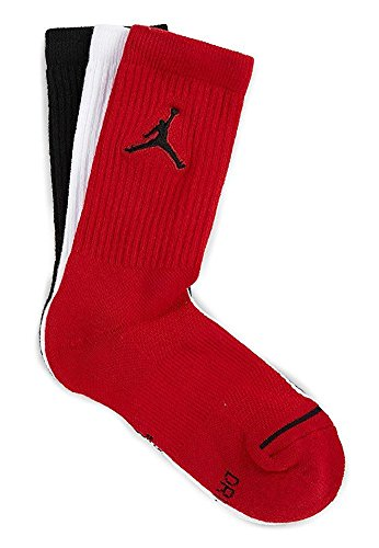 Nike Jordan Jumpman Dri-Fit Crew Socks 3 Pack Multi SX5545-011 (Large 8-12)