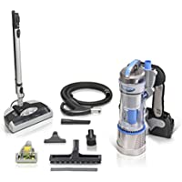 2018 Prolux 2.0 Bagless Backpack Vacuum with Electric Power Nozzle for Carpet Cleaning