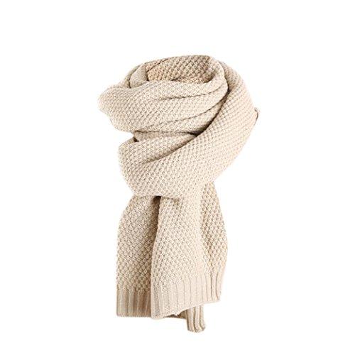 Frauen Beige Wrap Gestrickter stricken Schals Schal Solid Mischung ...