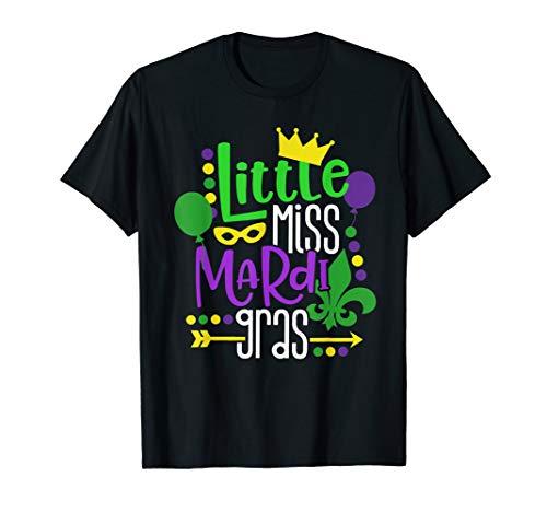 Little Miss Mardi Gras Shirt Mardi Gras Costume Girl Kid]()