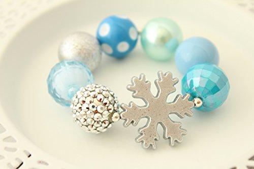 Blue Silver Ice Princess Snowflake Bracelet for Girls - 7