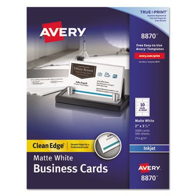 AVE8870 - True Print Clean Edge Business Cards ()
