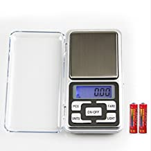 High Accuracy Mini Electronic Digital Pocket Scale Jewelry Diamond Gold Coin Calibration Weighing Balance Portable 500G/0.01G Counting Function Blue Lcd