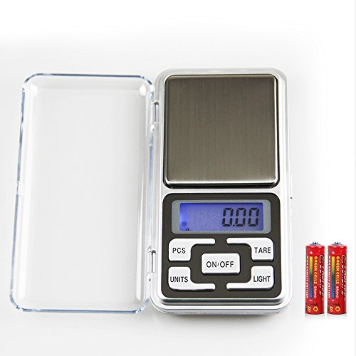 High Accuracy Mini Electronic Digital Pocket Scale Jewelry Diamond Gold Coin Calibration Weighing Balance Portable 500G/0.01G Counting Function Blue Lcd - 0.01g Digital Pocket Scale