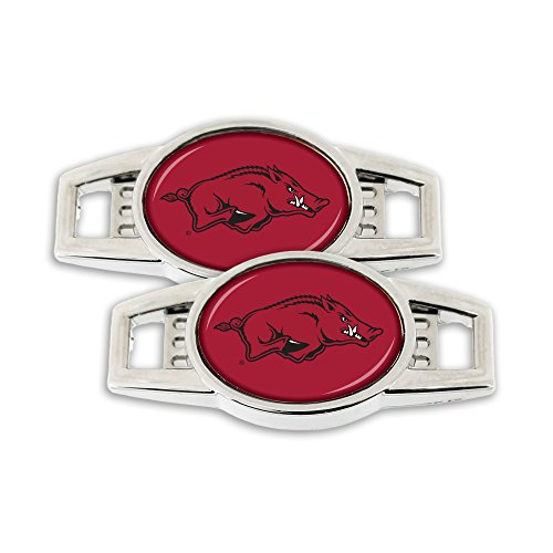 NCAA Arkansas Razorbacks Shoe Charm, 2-Pack