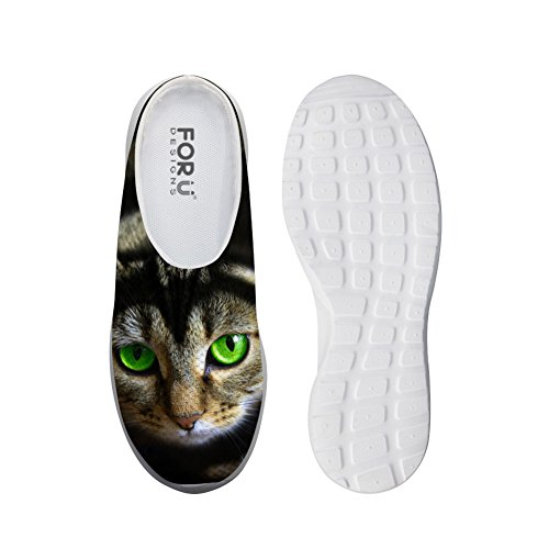 Fashion Women Summer Mesh Sandals 3D Animals Slip-On Slippers Breathable Female Beach Water Shoes cat-3 uYrxwmSCz