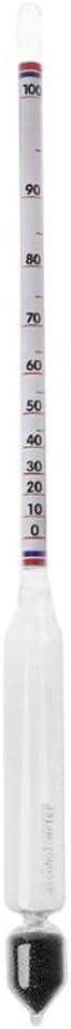 Chuiouy Alcohol Hydrometer Tester Vintage Bottle Measuring Set Tools Alcohol Meter Wine Concentration Meter 0-100