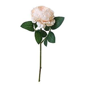 MARJON FlowersArtificial Flowers,Fake Flowers Silk Flowers Dried Flowers Valentine Gift Vintage Bouquet Artificial Fake Phantom Roses Flower Bridal Bouquet Wedding Party Home Decor (Beige) 101