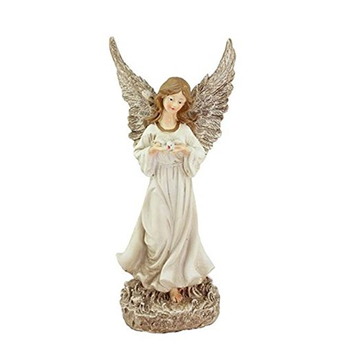 12.5 in. Heavenly Gardens Glittered Ivory & Champagne Gold Serene Angel with ... /RM#G4H4E54 E4R46T32512703 ()