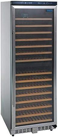 Pantalla LED,Acabado negro.,Doble zona permite almacenar vinos blancos, rosados o tintos en el mismo