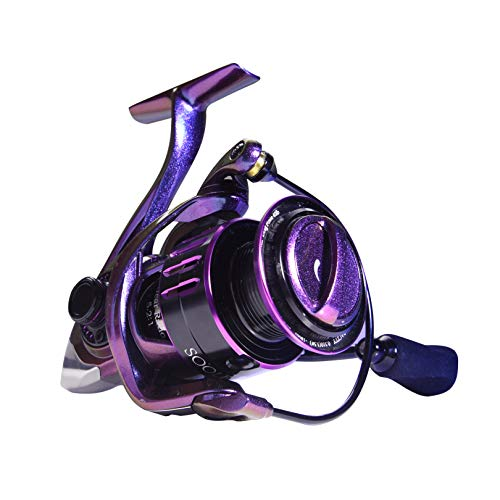 SOOLF Spinning Fishing Reel - 9+1 Stainless Steel Shielded BB for Freshwater or Saltwater, 5.2:1 Gear Ratio