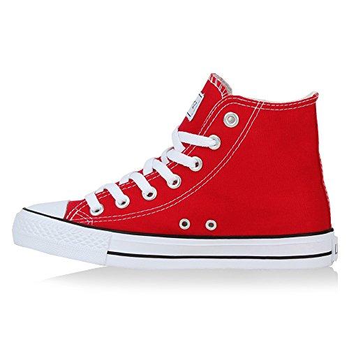 Mujer Stiefelparadies Rojo Zapatillas rojo altas OfwPFa