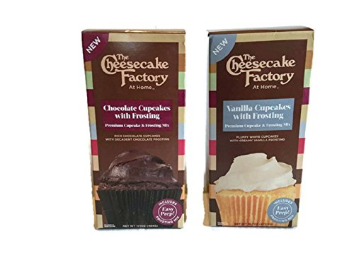 The Cheesecake Factory at Home Premium Cupcake & Frosting Mix(Chocolate and Vanilla 2-Pack Combo Box (Chocolate Cupcake Mix)
