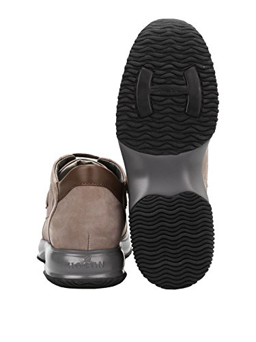 HOGAN HOMME HXM00N0I9809AG351E MARRON CUIR BASKETS