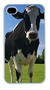 Beautiful Bovine3 Custom iPhone 4s/4 Case Cover Polycarbonate White by runtopwell
