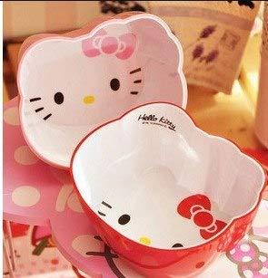 - AMZLUCKY - Hot Sales Cute Kitty cat head afraid to throw children tableware Salad Soup Dessert Bowl Lunch Box bowl soup cartoon Tableware