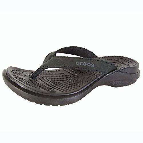 Crocs Women's Capri IV Sandal,Black/Black,5 M US