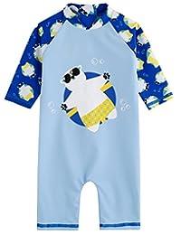 Vaenait Baby 0-24M Baby Boys Swimsuit Rashguard Swimwear Tanning Bear Blue