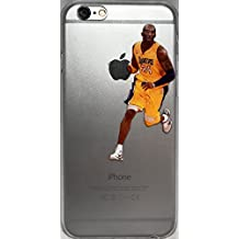 Basketball Clear Clip-On iPhone 6 and 6s Case With Your Favorite Players, Past and Present (Kobe Dribble)