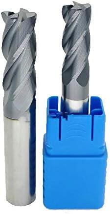 2Pcs Solid Carbide End Mill Bits 6mm-8mm 4-Flute TiAIN Coat CNC Milling Cutter