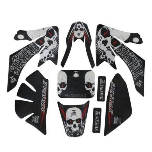- WPHMOTO Sticker Graphics Plastic Fenders Fairing Body Decals Parts Kit For CRF50 Motorcycle Dirt Pit Bike (Style 3)