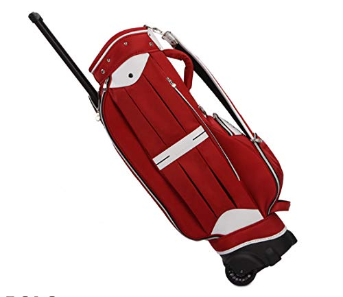 YF ZJ Golf Bag Man Women Airline Travel Case Nylon and PU Airplane Bag Wheeled Travel Covers Dust Cover