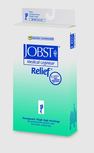 Jobst Relief 30-40 Thigh-Hi Beige Small Silicone Band by Marble Medical