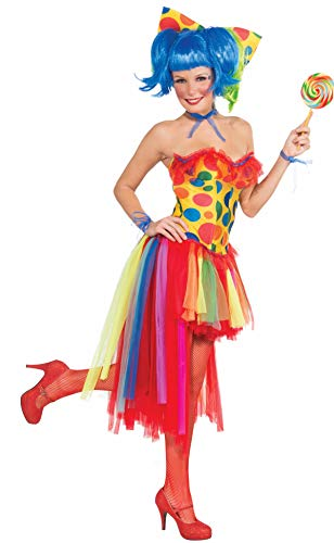 Forum Novelties Women's Circus Sweetie Adult Pippi Polka Dot Clown Costume, Multi Colored, One Size