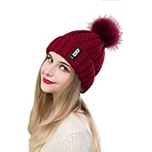 ADUO Slouchy Beanie Hat Winter Warm Soft Cable Knit Thick Skully Hats for Women Men