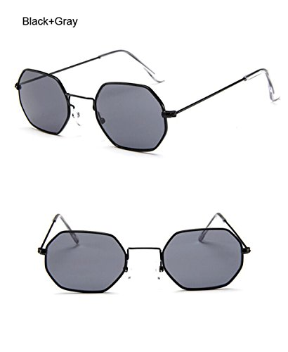 claire designer Femme Brand Vintage Noir de petit Gris Lunettes Lunettes Polygone cadre métallique soleil Hommes de de cadre soleil hexagonale Lunettes lentille Fashion soleil wXqnnzEp