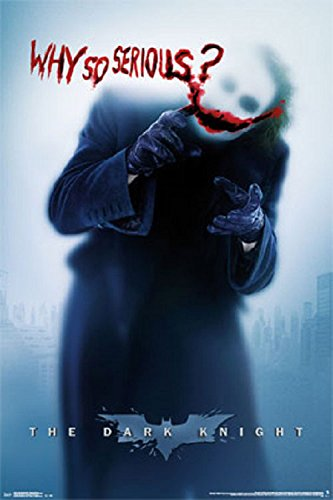 (Batman The Joker Why So Serious Poster, Size 24x36)