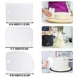4 Pieces Cake Icing Straight Spatulas Stainless