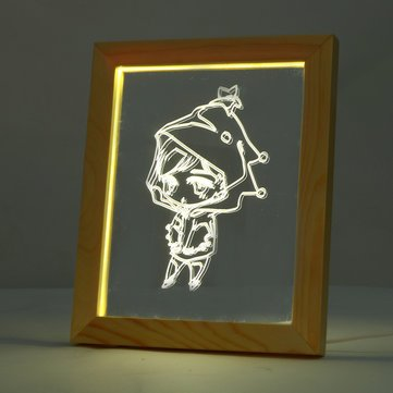FL-7010 3D Photo Frame Illuminative LED Night Wooden