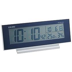 SEIKO CLOCK ( Seiko clock ) night lights radio digital alarm clock ( dark blue ) SQ762L
