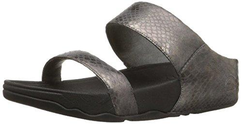 Plata Slide sintético Sandalias Snake Pewter Fitflop mujer de Metallic Lulu Silver 1aBxwtqf8