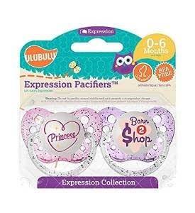 Amazon.com: ulubuluexpression Chupete 2 Pack – -Princesa y ...