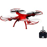 5-Channel Remote Control Red Drone with 6-Axis Gyroscope System