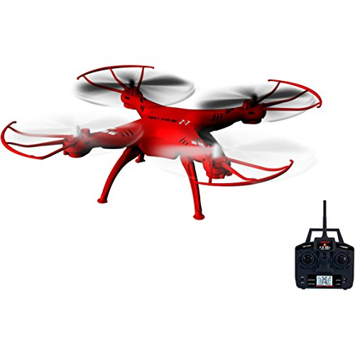 5-Channel Remote Control Red Drone with 6-Axis Gyroscope System by Swift Stream