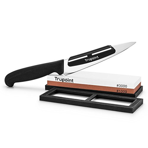 trupoint chefs knife sharpening stone and angle guide system import it all. Black Bedroom Furniture Sets. Home Design Ideas