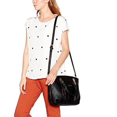 Womens Large Conran Finish Bag J Jasper 'Teddington' By Grab Black Textured tqHwgT8U