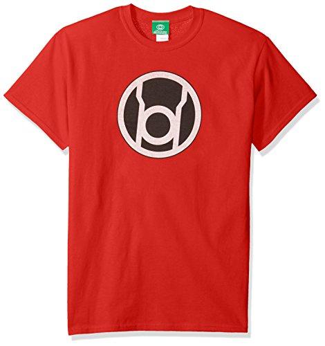 DC Comics Men's Green Lantern Short Sleeve T-Shirt, Red, Small